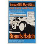 Sport Poster Brands Hatch Car Race Meeting Molyslip Formula 3