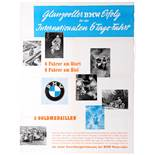 Sport Poster BMW Motorcycle Racing International 6-Days Ride Victory