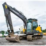 Volvo EC140EL 14 tonne steel tracked excavator Year: 2015 S/N: 310123 Recorded Hours: 6607 piped,