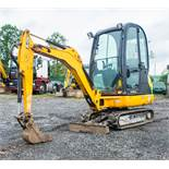 JCB 8016 CTS 1.6 tonne rubber tracked mini excavator Year: 2013 S/N: 71384 Recorded Hours: 1254