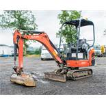 Kubota KX015.4 1.5 tonne rubber tracked mini excavator Year: 2014 S/N: 57322 Recorded Hours: 2297
