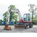 Takeuchi TB 175W 7.5 tonne wheeled excavator Year: 2010 S/N: 175400387 Recorded Hours: 7917 piped,