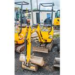 JCB 8008 CTS 0.8 tonne rubber tracked micro excavator Year: 2015 S/N: 10881 Recorded Hours: 1434