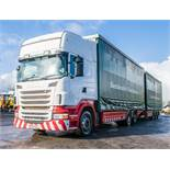 Scania R440 Topline 6 x 2 26 tonne curtain sided draw bar lorry Registration number: PK60 SZJ Date