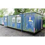 28 ft x 12 ft steel anti vandal jack leg office site unit Comprising of: 2 - offices ** No keys