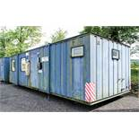 32 ft x 12 ft steel jack leg anti vandal office/toilet site unit Comprising of: Reception area,