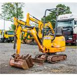 JCB 8008 CTS 0.8 tonne rubber tracked micro excavator Year: 2015 S/N: 10651 Recorded Hours: 905