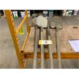 (4) Long handled sand shovels