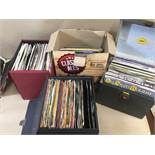 FOUR BOXES OF ASSORTED 45'S SINGLES VINYL RECORDS