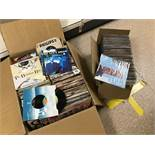 AN EXTENSIVE COLLECTION OF VINYL 45'S/SINGLES IN TWO BOXES
