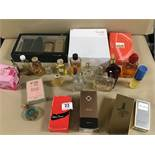 A BOX OF ASSORTED PERFUMES