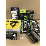 FOUR WAHL MENS GROOMING ITEMS IN BOXES, INCLUDING PRECISION MULTI GROOMER, POWERPIK 2 HAIRDRYER ETC