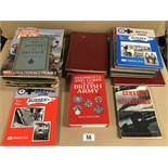 A COLLECTION OF MILITARY BOOKS, INCLUDING REGIMENTS AND CORPS OF THE BRITISH ARMY, THE YEARS OF