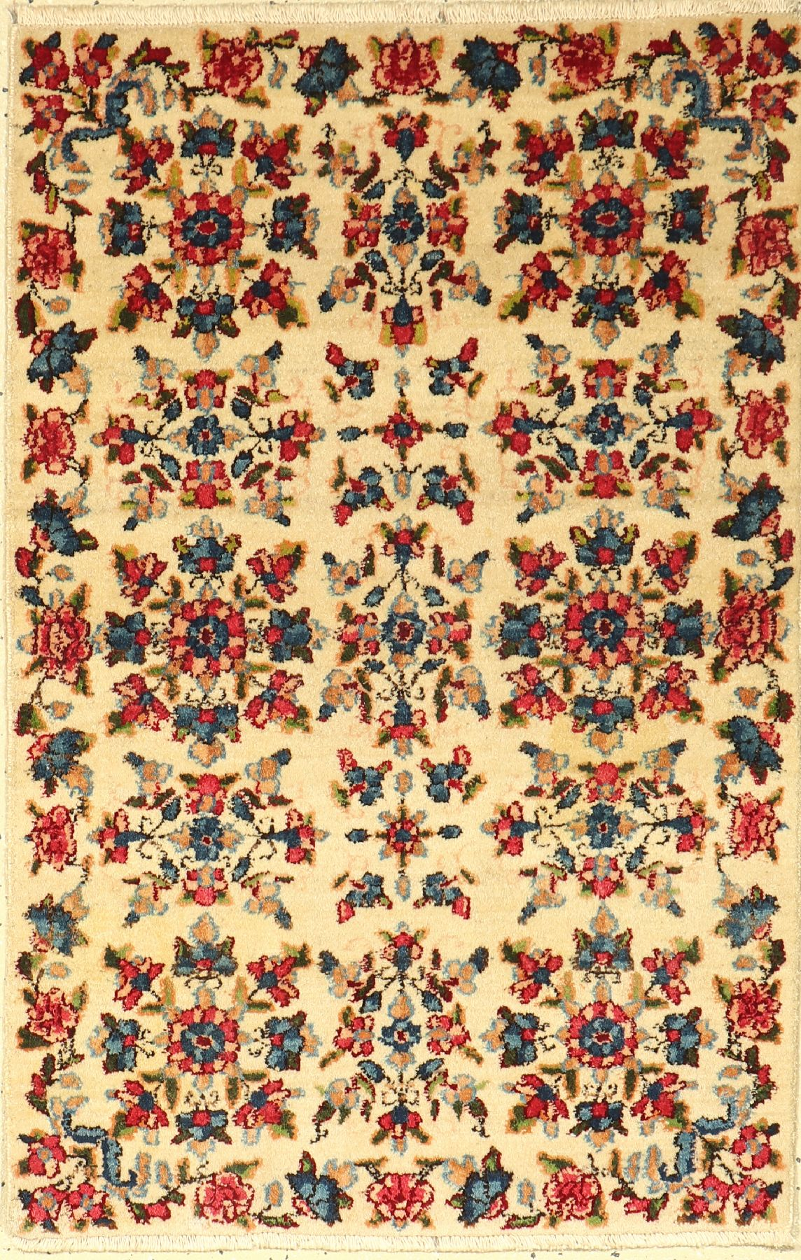 Kerman Lawer old, Persia, approx. 60 years, cork wool, approx. 94 x 61 cm, condition: 2. Auction: