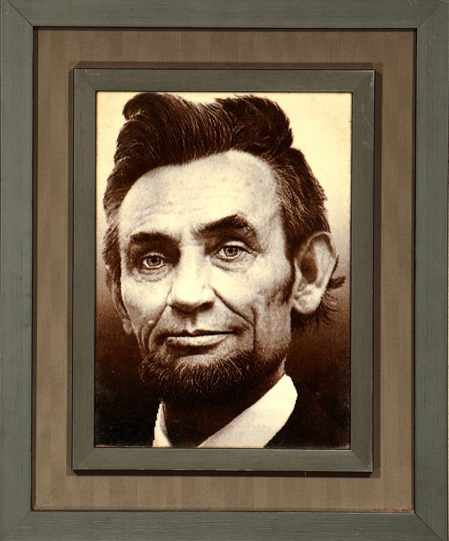 Tabriz fine (Abraham Lincoln), Persia, approx.10 years old, wool on silk, approx. 48 x 3 5 cm,