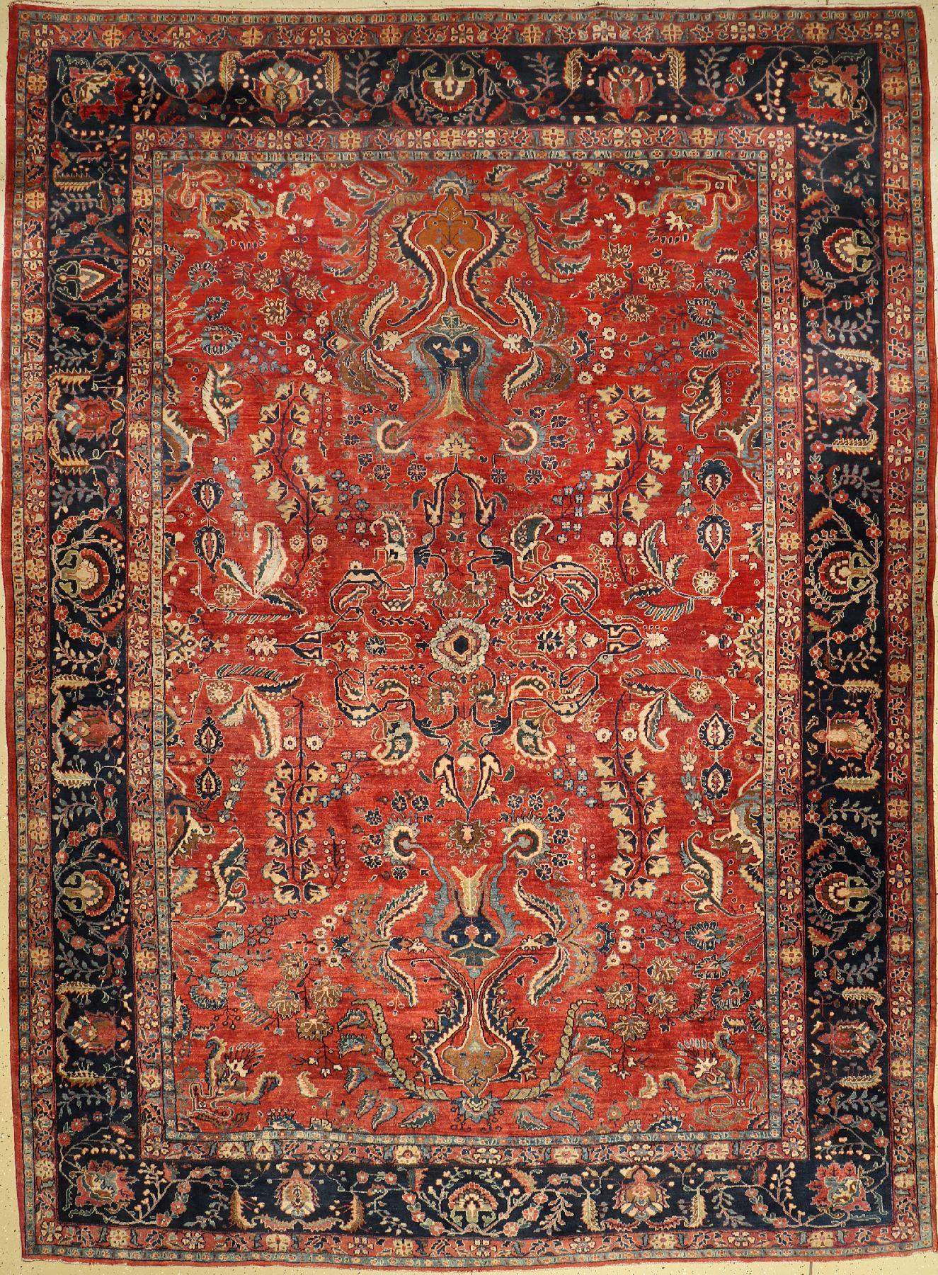 Saruk Mohajeran antique, (US re-import), Persia, around 1890, wool, approx. 357 x 264 cm, condition:
