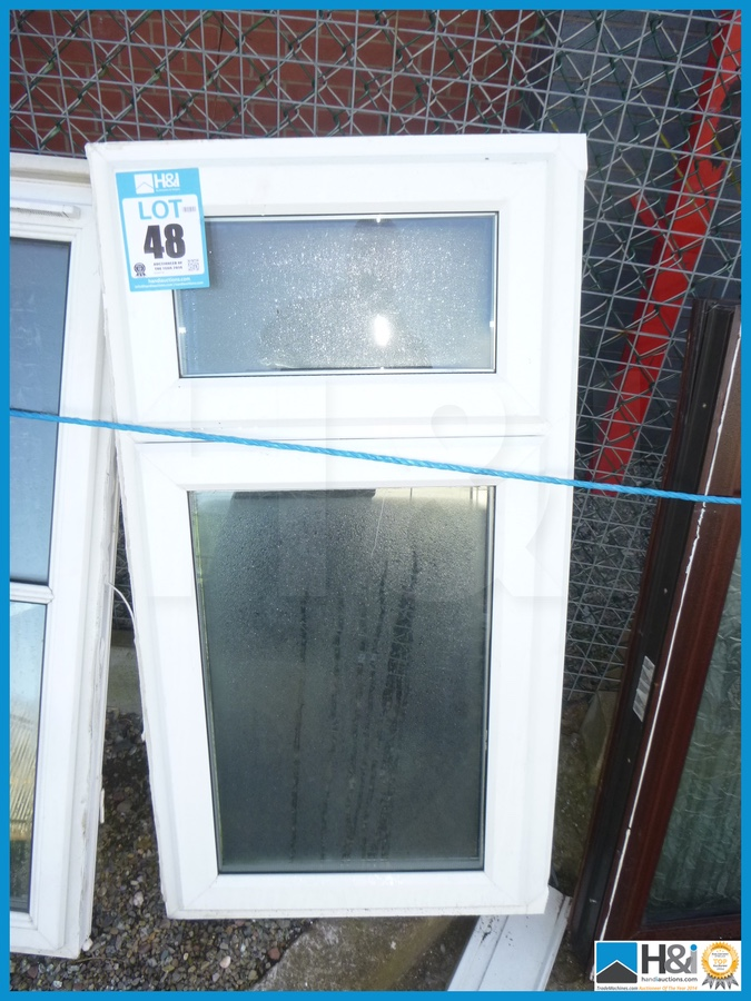 Top Hinged Windows : Used pvc window top opener side hinged sash clear glass