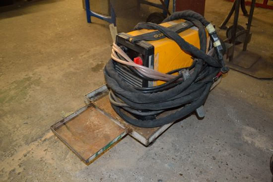 Lot 61 - Weco Discovery 180 AC/DC welding power source with trolley