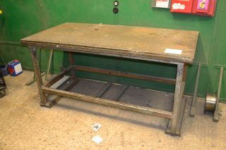 Lot 67 - 2 no. fabricated welding tables