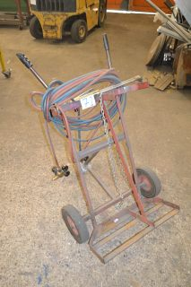 Lot 71 - Gas bottle trolley with untested torch, hose and regulator
