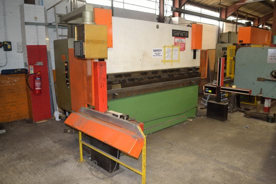 Safan CNCB press brake, 80 ton x 3100mm