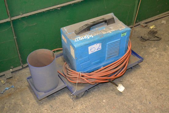 Lot 62 - Clarke Weld 210TE welding set with trolley