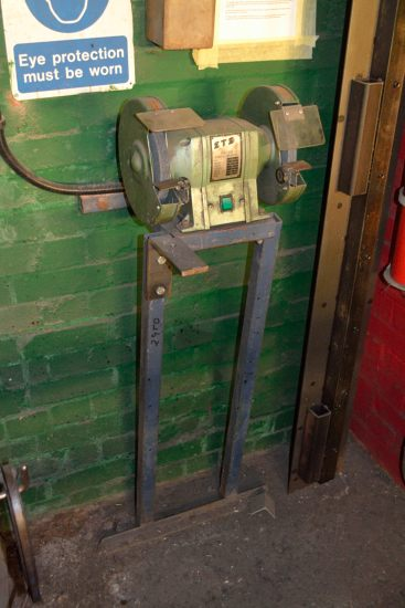 Lot 49 - STS TDS-200 double ended grinding machine on stand
