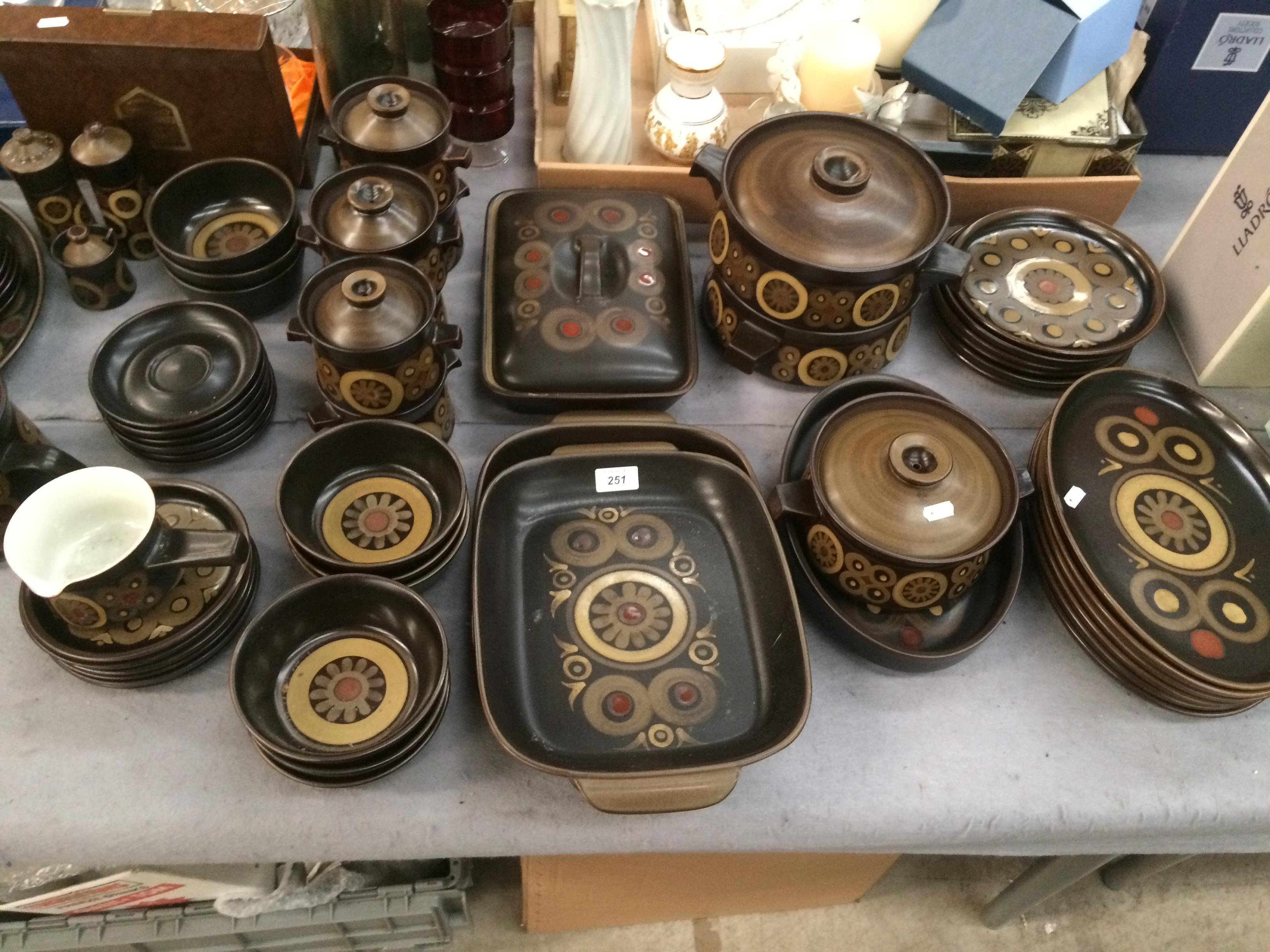 Lot 251 - An extensive collection of Denby Arabesque tableware (approximately 68 pieces) - dishes, tureens,