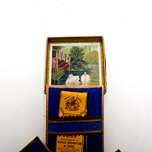 Lot 603 - Alfred Shrimpton & Sons Retail Box and a Collection of Sterling Sewing Implements