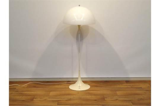 Verner panton schemerlamp deense design staande lamp met