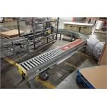 180 degree powered roller conveyor
