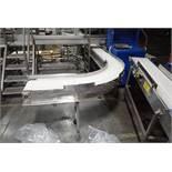 90 degree plastic interlock belt conveyor