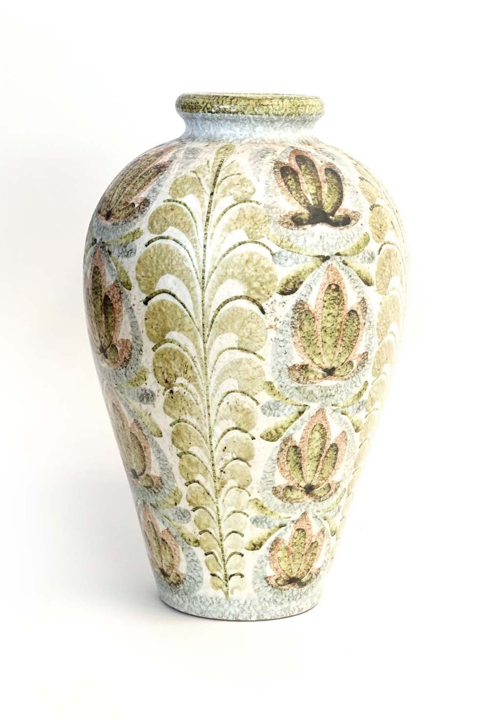 Lot 38 - Glyn Colledge for Denby, a baluster vase decorated with autumnal patterns, h.