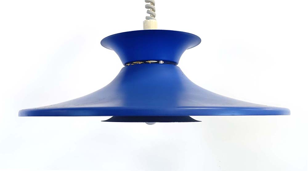 Lot 14 - A Danish blue-enamelled three-tier ceiling light CONDITION REPORT: Working order