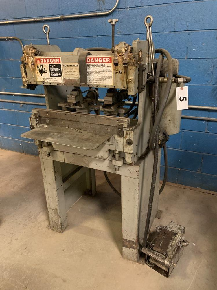 Lot 5 - 12 Ton Bantam Model B2120GFO Pneumatic Press Brake, 12 Ton x 2'