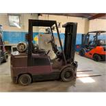 6,000 lb. Hyster Forklift Model S60XMn, Propane Tank NOT Included, s/n: D187V11811V