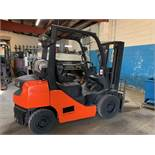 5,000 Totota Forklift Model 8FGU25, Propane Tank NOT Included, s/n: 12916
