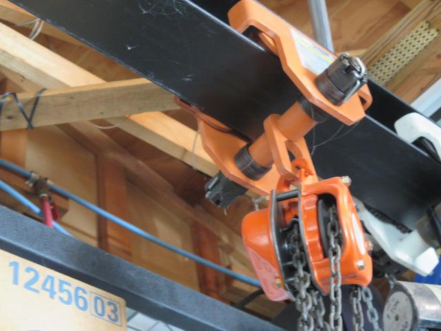 Lot 42 - Jet 1 Ton Chain Hoist w/ Trolley