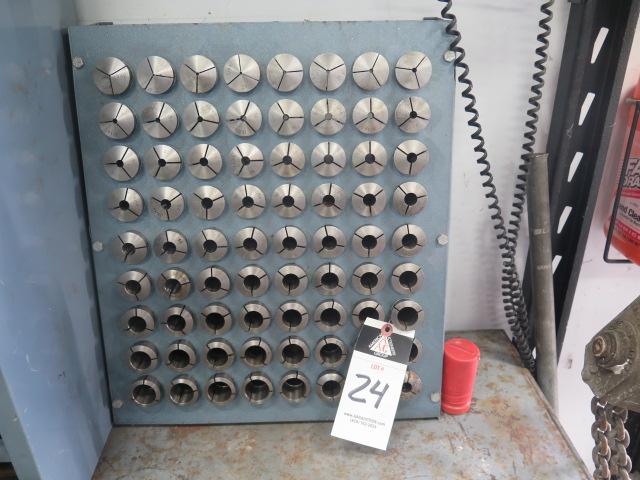 Lot 24 - 5C Collets (72 pc Set) w/ Rack