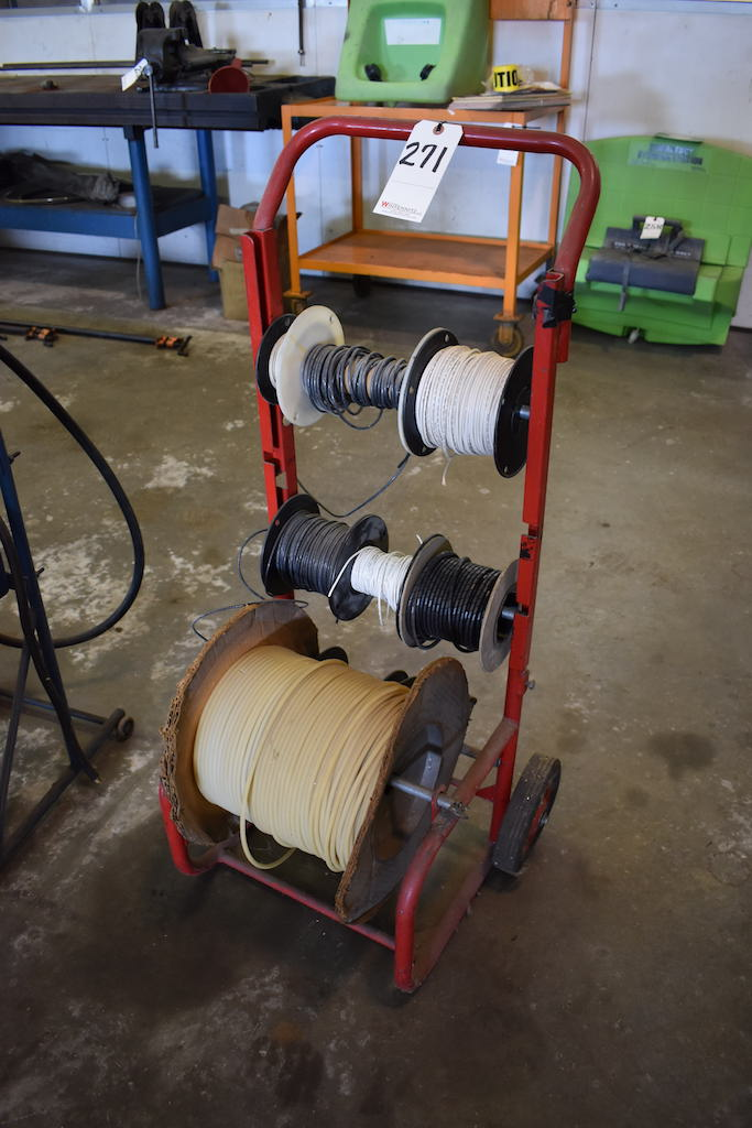Lot 271 - WIRE CART; W/Wire & Spool of Tubing