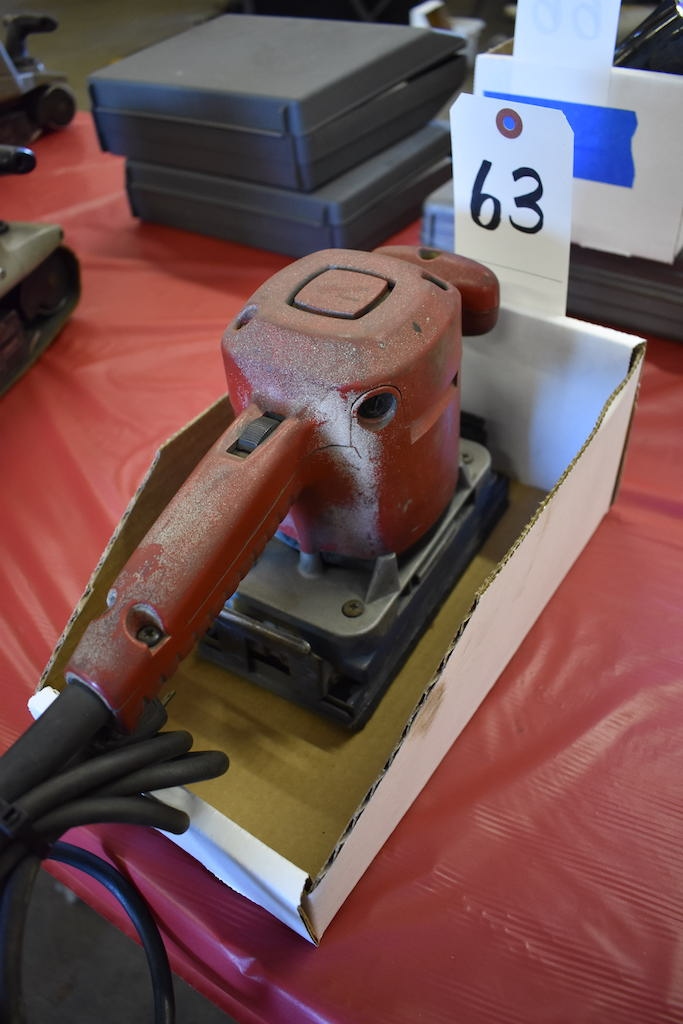 Lot 63 - MILWAUKEE CAT. NO. 6012 ELECTRIC ORBITAL SANDER