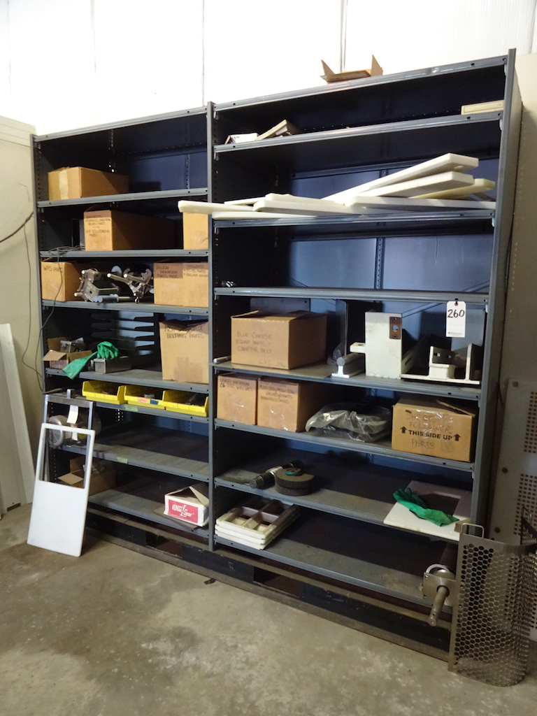 Lot 260 - LOT: (2) SECTIONS OF STEEL SHELVING; Bolted and Clipped