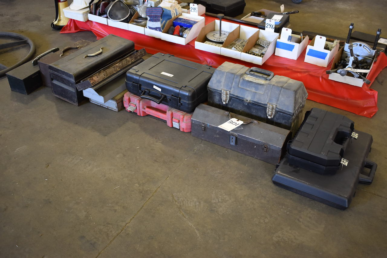 Lot 301 - LOT: ASSORTED TOOL BOXES (EMPTY)
