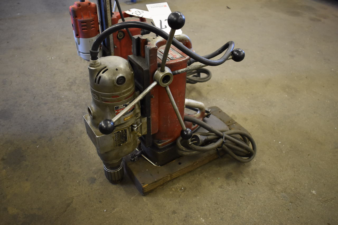 Lot 27 - MILWAUKEE CAT. NO. 423 ELECTRO MAGNETIC DRILL PRESS