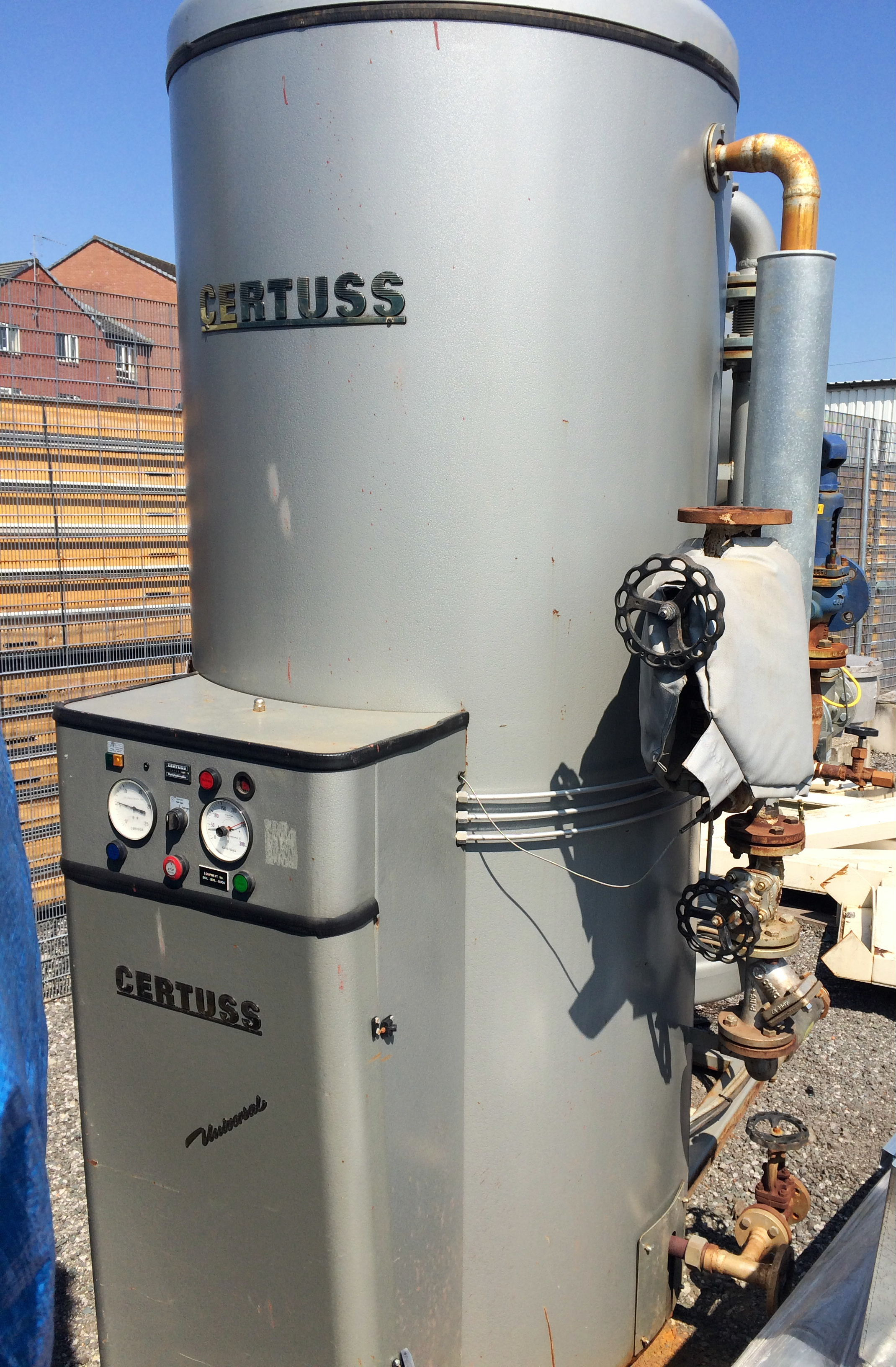 A Certuss Universal 1800EG Gas Fired Steam Generator No 2003
