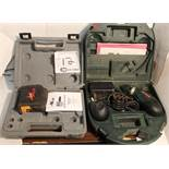 PLS laser level & MetaboPower Grip cordless drill