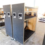 LOT - (2) WOOD-SKINNED WIRE METRO CARTS, 2' X 4'