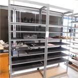 6' STEEL SHELVING W/ A FEW MISC ITEMS