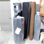LOT - (5) ROLLS OF FELT AND (2) ROLLS OF FABRIC MESH SPEAKER GRILL MATERIAL