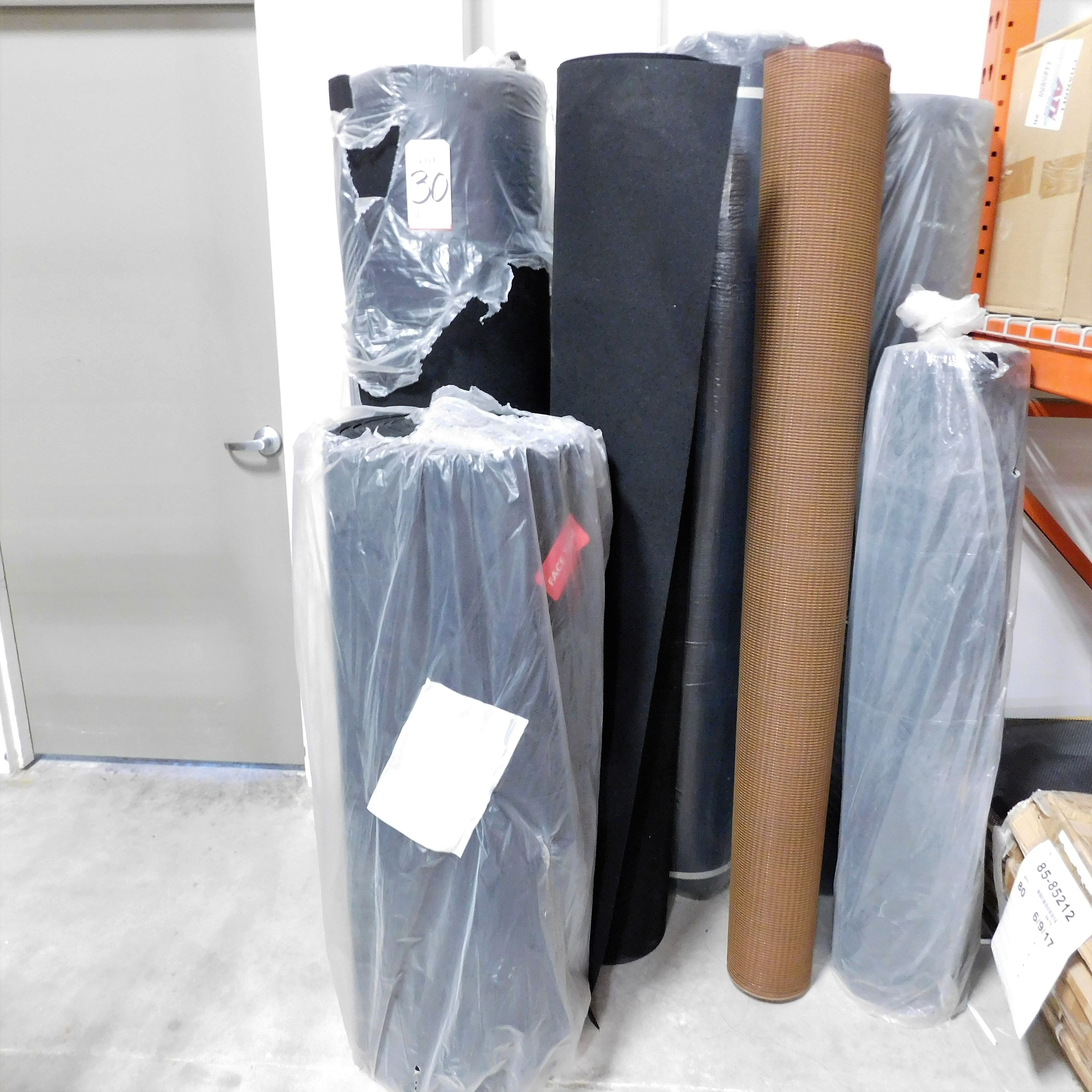 Lot 30 - LOT - (5) ROLLS OF FELT AND (2) ROLLS OF FABRIC MESH SPEAKER GRILL MATERIAL